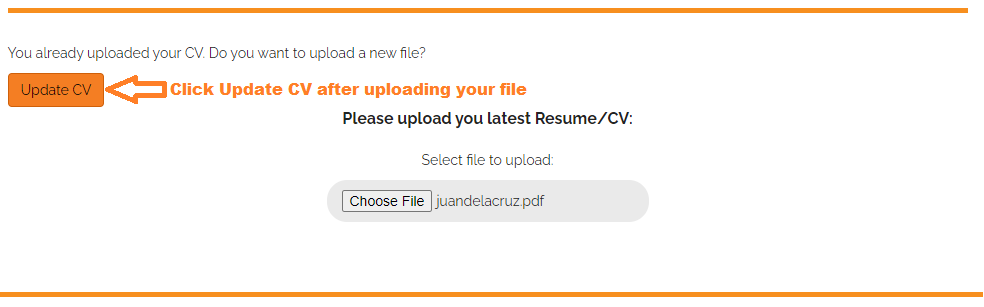 how to update cv 6